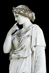 Ancient statue of a Greek mythical muse